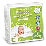 Babysom - Protège Matelas Bébé Bamboo - 60x120 cm | Alèse imperméable Souple et Silencieuse | Bouclette Éponge | Viscose Douce et Respirante | Oeko-Tex