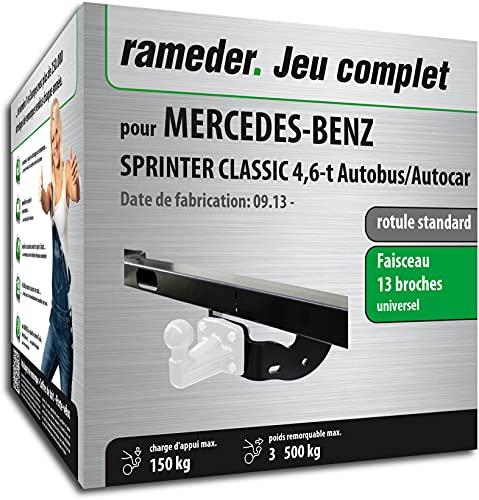 Rameder Pack, attelage rotule Standard 4 Trous livrée sans rotule + Faisceau 13 Broches Compatible avec Mercedes-Benz Sprinter Classic 4,6-t Autobus/Autocar (161519-11491-1-FR).