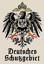 Schatzmix Blechschild Retro Deutsches Schutzgebiet Metallsch