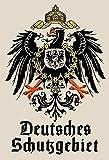 Schatzmix Blechschild Retro Deutsches Schutzgebiet