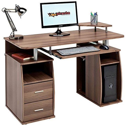 Piranha Trading Tetra Desk Dark Walnut PC5w