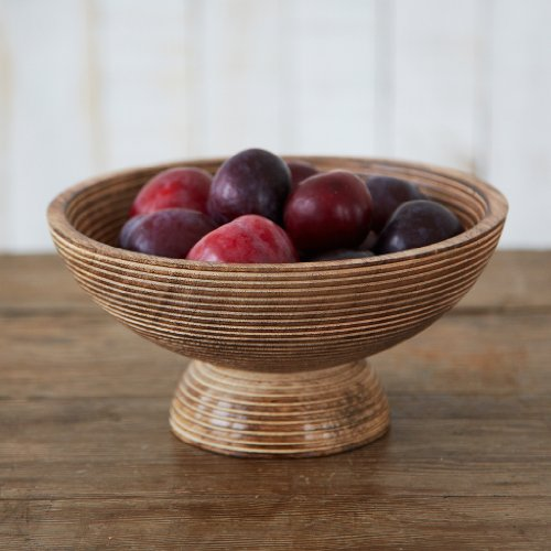 Paper High Hand Carved Makula Raised Design Mango Wood Bowl | Fair Trade | Handmade | Sustainable Wooden Serving Bowls