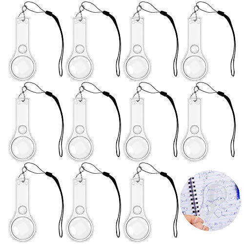 24 Pack Hand Lens 10X Plastic Magnifier Mini Hand-held Magnifying Glasses for Kids, Classroom, Reading, Outdoors, Science Observation