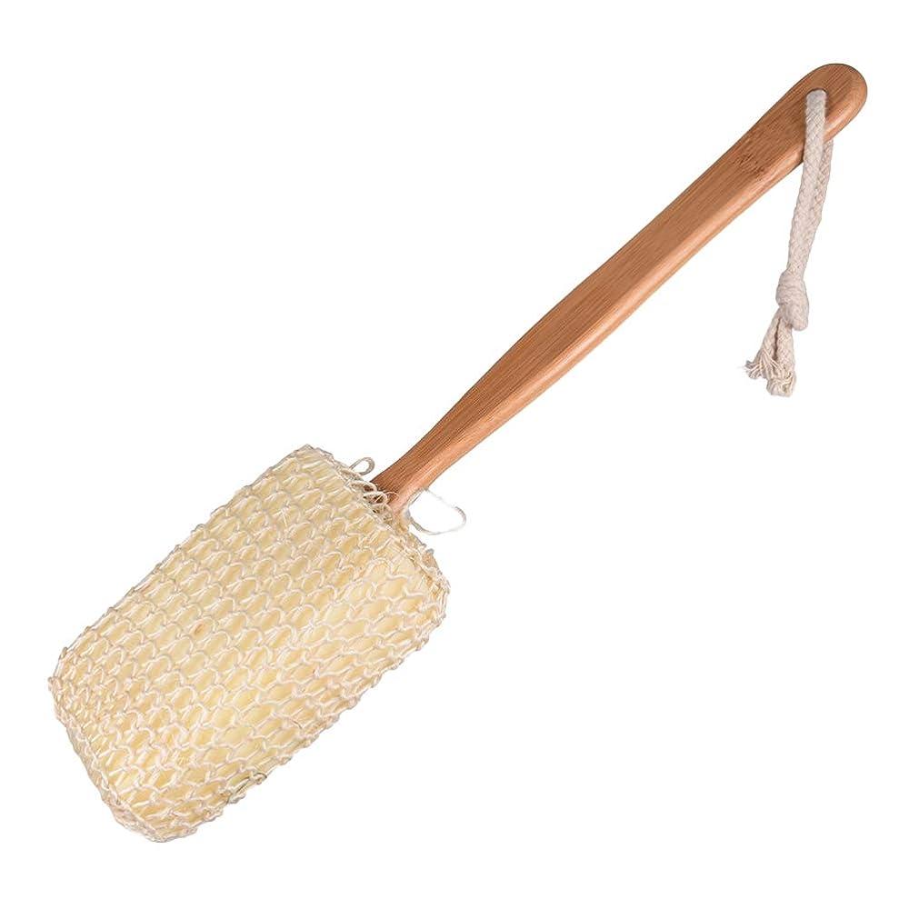 気配りのあるモンスターラジエーターYardwe ドライブラッシングボディーブラシナチュラルサイザルスポンジ取り外し可能な長い木製の竹のハンドル死んだ皮膚はセルライトの剥離を助けます