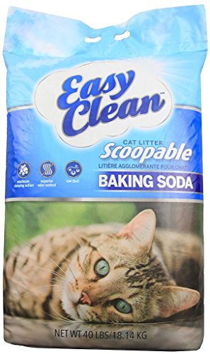 Pestell Easy Clean Clumping Cat Litter with Baking Soda, 40-Pound