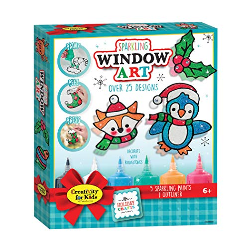 Creativity for Kids Holiday Sparkling Window Art – Create Your Own Window Stickers