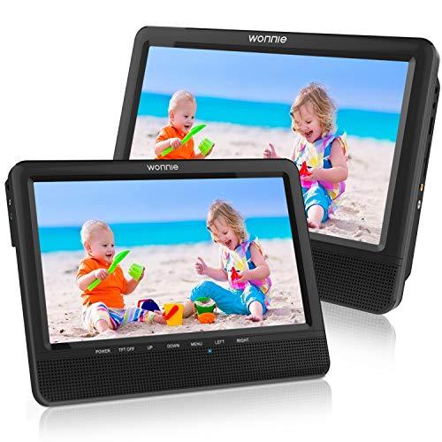WONNIE 9.5'' Dual Screen DVD Player Portable Car...