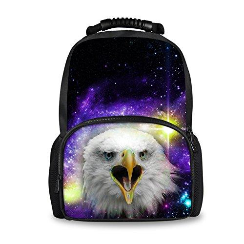 coloranimal moda Hombre Galaxy mochila cool animal patrón fieltro bookbags para la escuela