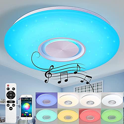 LED Deckenleuchte mit Bluetooth Lautsprecher 24W/36W (24W, APP & Fernbedienung)