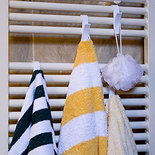 Canjerusof 6 Piezas en Forma de Gancho para la suspensión de la Toalla radiador toallero radiador Tubular baño sostenedor del Gancho de Almacenamiento en Rack de baño Hook Decoración