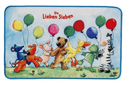 Unbekannt Die Lieben Sieben Kinderteppich, Bunt