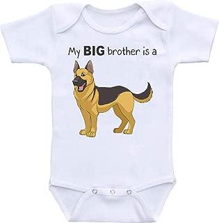 Manta. My Big Brother is a German Shepherd Funny Onesie Romper Bodysuit 2