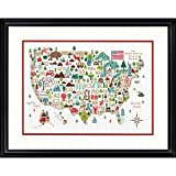 Darice Dimensions 'Illustrated USA' Patriotic 50 States Counted Cross Stitch Kit, 14 Count White Aida Cloth,...