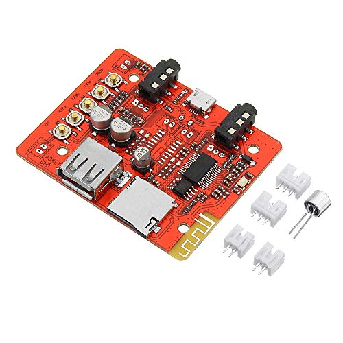 GzxLaY Stereophony - Módulo de amplificador de audio digital para placa de radio, receptor Bluetooth, adaptador USB, compatible con TF AUX, duradero
