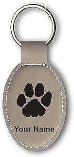 custom paw print keychains