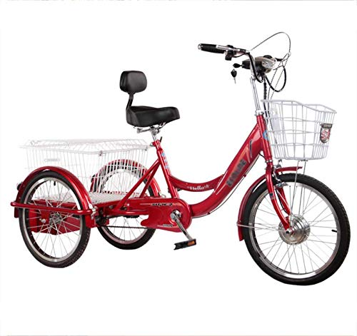 Triciclo Eléctrico Para Adultos Bicicleta De 3 Ruedas Con Asistencia Eléctrica Scooter...