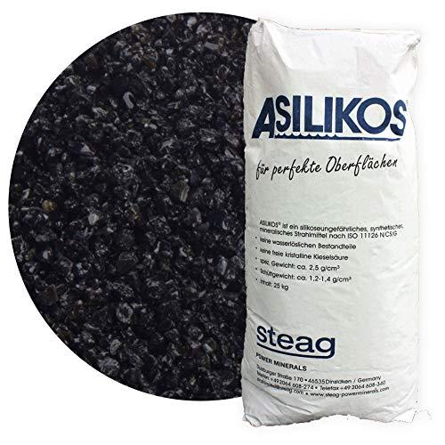 25 kg Asilikos Aluminiumschlacke Strahlmittel 0,5-2,0 mm für effektives Sandstrahlen