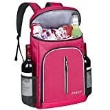 FORICH Soft Cooler Backpack Insulated Waterproof Backpack Cooler Bag Leak Proof Portable Cooler Backpacks to Work Lunch Travel Beach Camping Hiking Picnic Fishing Beer for Men Women (Rose Red)