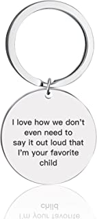 Mom Dad Keychain Gifts From Daughter Son Christmas Birthday, Mothers Day, Fathers Day, Valentines Day - I Love How we Don'...