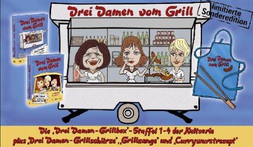 Drei Damen vom Grill - Sonderedition (die Boxen 1&2 inkl. Schürze, Grillzange und Currywurstrezept) [Limited Edition] [12 DVDs]