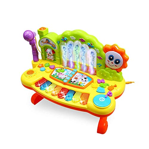 Digitale piano Children's Fountain Keyboard Beginner Muziek Kleine Piano Kinderen Early Education 3 jaar oud met microfoon Kerst Surprise Gift (Kleur: Multi-gekleurde) (Color : Multi-colored)