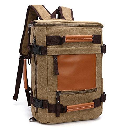 Gendi Unisexe Sac de sport de voyage Sac de bagage Sac à main Sac de sport Sac de sport School (kaki)