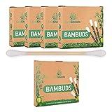 EcoShoots 400 o 1000 bastoncillos de algodón de bambú | 4x100 Bambuds Orgánicos | Embal...