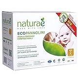 Pannolini Naturaè ecologici biodegradabili compostabili 3-6 kg -Taglia 1
