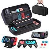 Funda para Nintendo Switch, HEYSTOP 11 en 1 Nintendo Switch Estuche portátil Incluye 2 Joy-Con...