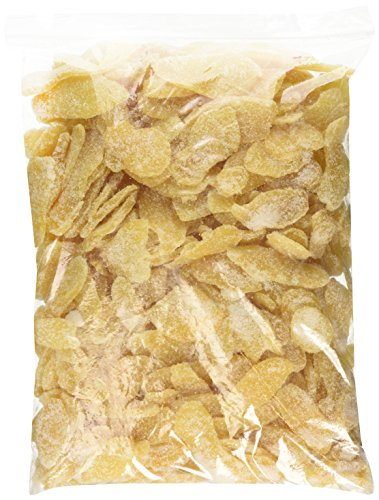 Dried Crystallized Ginger Slices, 5 lb