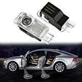 Zobir Autotür Logo Licht, 4 Pack LED Auto Projektor Logo Ghost Shadow licht türbeleuchtung Willkommen Lampe für Audi A8 A7 A6 A5 A4 A3 A1 R8 TT Q7 Q5 Q3