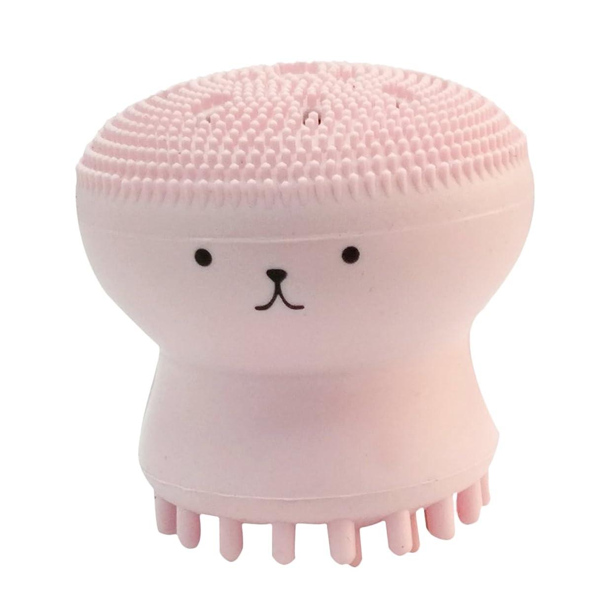放映対称遠征Kesoto タコ形 洗顔用 クレンジングブラシ シリコーン マッサージブラシ 毛穴清掃用ブラシ スポンジパフ