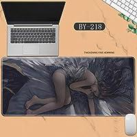 素敵なマウスパッド特大アイスプリンセスゴーストナイフ風チャイムプリンセスアニメーション肥厚ロック男性と女性のキーボードパッドノートブックオフィスコンピュータのデスクマット、Size :400 * 900 * 3ミリメートル-BY-218