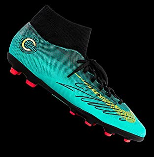 7801e2240f71 Cristiano Ronaldo Autographed Signed Nike Cr7 Mercurial Superfly Vi High  Top Boot