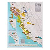 Scratch Off California Wines Poster - Ideal Gift for Wine Lovers - 22 x 17