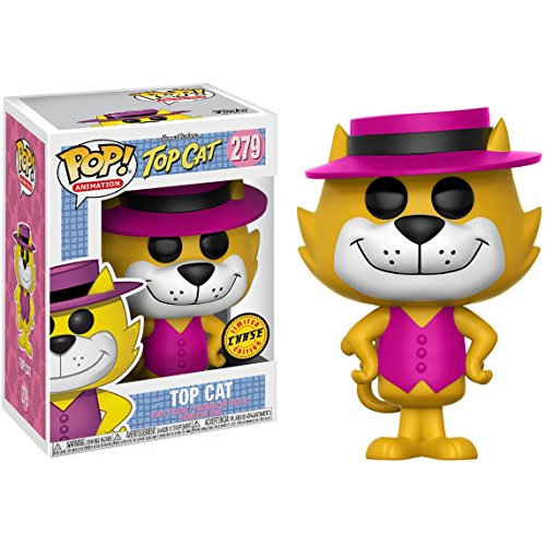 Funko Top Cat (Chase Edition): Hanna-Barbera Top Cat x POP! Animation Vinyl Figure & 1 POP! Compatible PET Plastic Graphical Protector Bundle [#279 / 13659 - B]