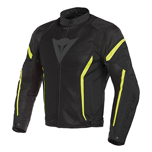 DAINESE ORIGINAL AIR CRONO 2 TEX JACKET BLACK & YELLOW 201735202-1 (58)
