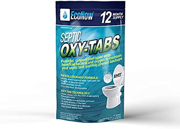 Septic Oxy Tabs Powerful Tablet Maintains And Treats A Septic Tank System So It Operates Properly Helps Prevent Back Ups And Eliminates Odors 12