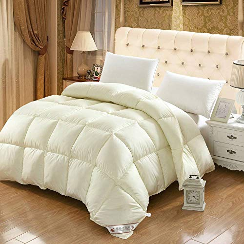 CHOU DAN 7.5 tog double duvet,Thicken and warm winter quilt double spring and autumn quilt student single four season quilt-220 * 240 4000g_yellow