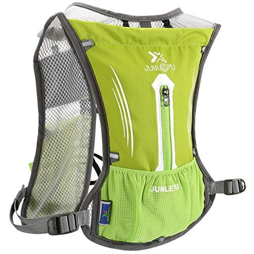 ACBungji 7L Trinkrucksack Multifunktion Laufrucksack Fahrradrucksack Hydration Weste Pack Rucksack für Radfahren Camping Wandern Joggen Bergsteigen Grün