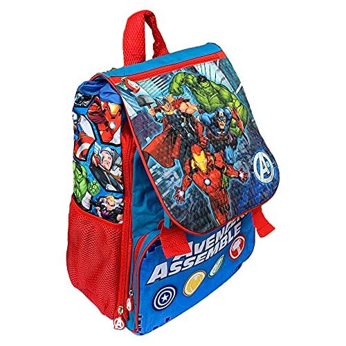 M.C. srl Zaino Avengers Marvel Iron Man Capitan America Hulk Thor Estensibile Scuola ELEMENTARE CM. 40X29X27 - AV0730