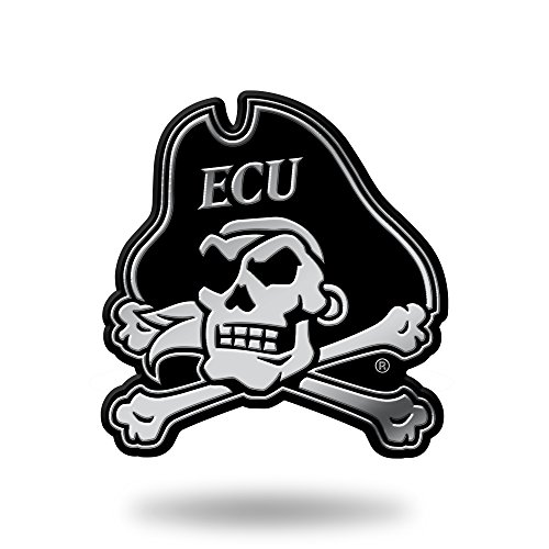 Rico Industries NCAA East Carolina Pirates Chrome Finished Auto Emblem 3D Sticker