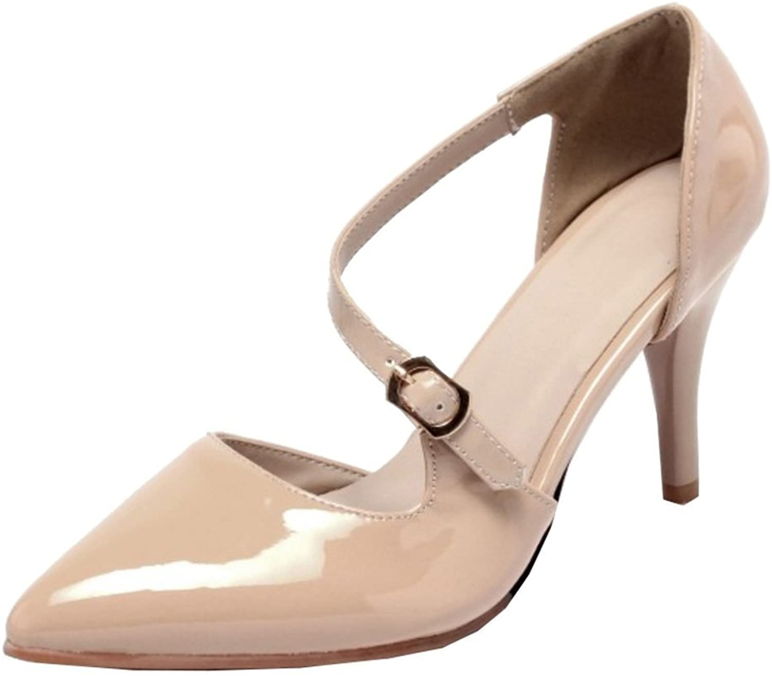 Mo Joc Pumps with Thin Heel and Pointed Toe Working Sandals with Large
