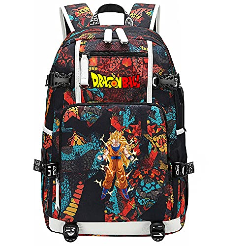 ZZGOO-LL Dragon Ball Son Goku/Torankusu Anime Backpack Middle Student School Rucksack Daypack for Women/Men with USB-C