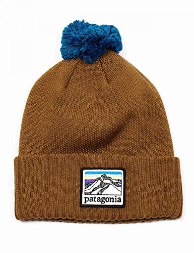 Patagonia Powder Town Beanie Baskenmütze, (line Logo Ridge) / Mulchbraun, Einheitsgröße