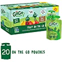 20 Pouches GoGo squeeZ Applesauce on the Go 3.2 oz
