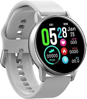 SXXYXH Pulsera Inteligente Impermeable, Monitores De Actividad Pantalla A Color De 1.22 Pulgadas Pantalla Táctil Completa Presión Meteorológica Calorías Monitores De Ritmo Cardíaco,C