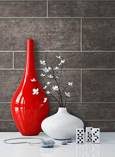 NEWROOM houtbehang behang antraciet muur tegels modern vliesbehang grijs vliesbehang loft incl. behang adviseur