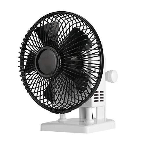 Mini-tafelventilator, elektrische ventilator met 2 snelheden, draagbare manicure-droger 13W Krachtige wind-bureauventilator voor thuis, kantoor en nagelsalon, zwart(EU)