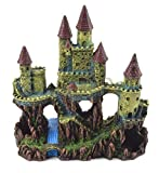 Acuario Deko Burg con río Candado Fortaleza Torre Castillo Castel Decoración